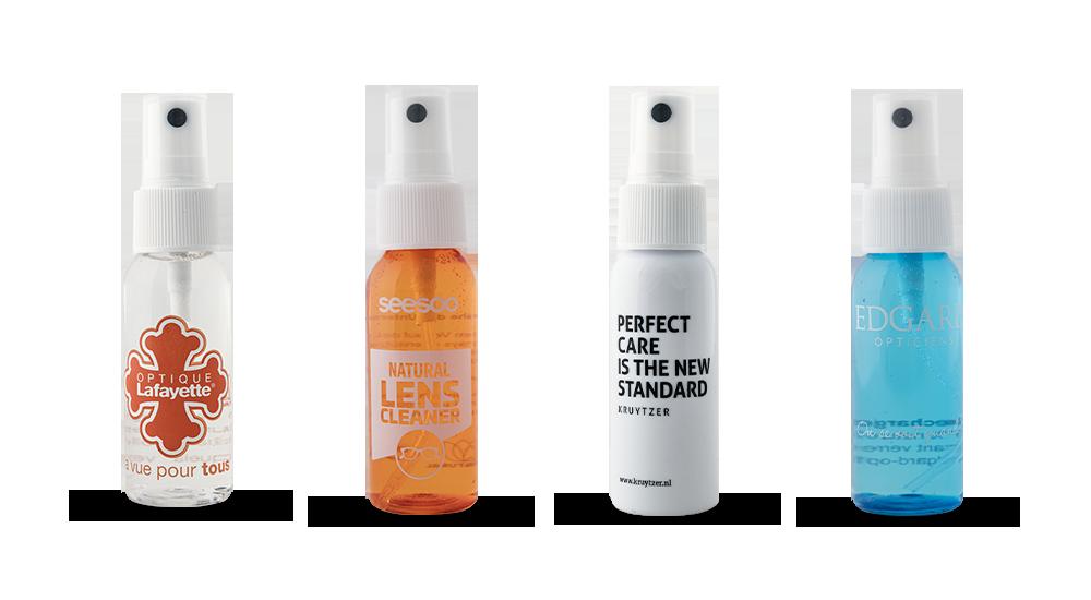 Verschiedene Gestaltungsmöglichkeiten Für Optiker Mit Umweltfreundlicher Reinigungsflüssigkeit, Personalisiertem Und Private Label Design
