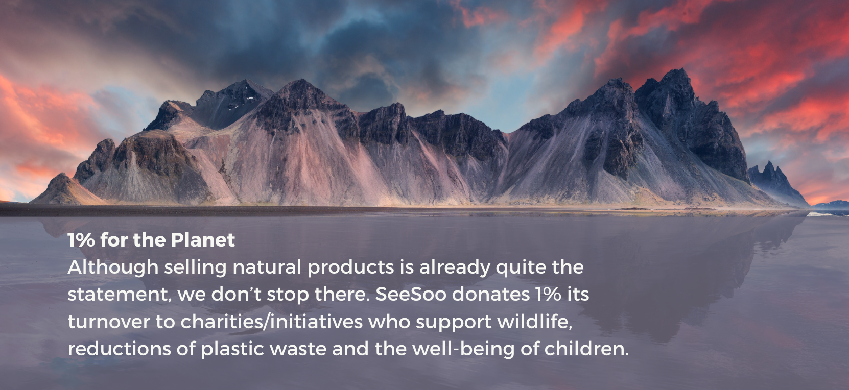 Seesoo donates 1% of its turnover to the planet